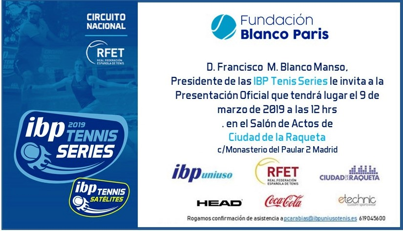invitación IBP tennis